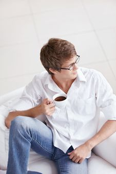 Free Attractive Man With Coffee Stock Image - 16886011