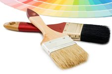 Free Color Guide For Selection And Paintbrush Royalty Free Stock Photo - 16886125
