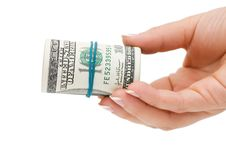 Free Hand With Money Isolated Over White Stock Photography - 16886292