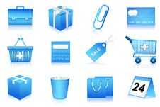 Free Shopping And Office Icons Stock Photography - 16886572