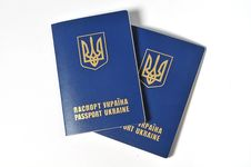 Free Two Passports Of Ukraine Royalty Free Stock Images - 16888379