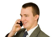 Free Persons With Telephone Royalty Free Stock Images - 16888639
