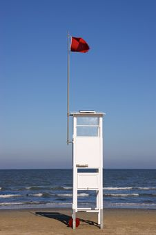 Free Lifeguard Tower On The Beach Stock Images - 16888854