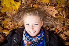 Free Girl In Autumn Park Stock Image - 16888881