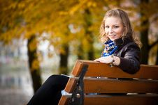 Free Girl In Autumn Park Royalty Free Stock Image - 16888906