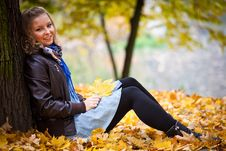 Free Girl In Autumn Park Royalty Free Stock Photo - 16888925