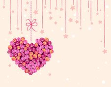 Free Background With Floral Heart Stock Image - 16888951