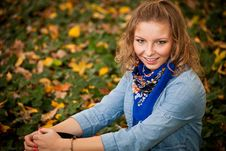 Free Girl In Autumn Park Stock Photos - 16888983