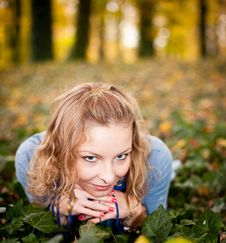 Free Girl In Autumn Park Royalty Free Stock Photo - 16889045