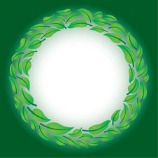 Free Leaf Circle Royalty Free Stock Images - 16889429