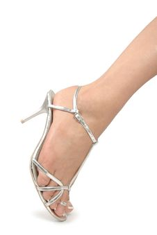 Free Woman Legs With  High Heel Shoes Over White Stock Photo - 16889620