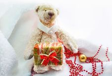 Free Bear With A Gift Royalty Free Stock Photos - 16889838