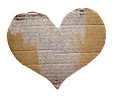 Free Heart Cardboard Royalty Free Stock Photography - 16889947