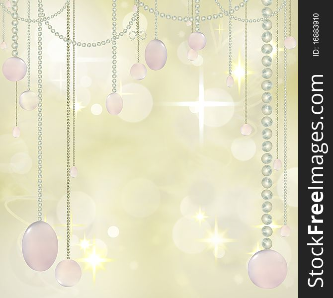 Beautiful Hanging beads on Festive Background