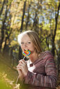 Free Woman Eating Candy Lollipops Stock Photo - 16897850