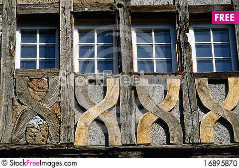 Free Four Windows At A Carcass House Stock Photo - 16895870