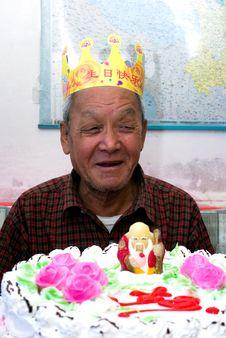 Free Happy Birthday To Grandpa Royalty Free Stock Image - 16890026