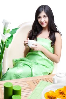 Free Beautiful Woman  In Cafe Royalty Free Stock Image - 16890236