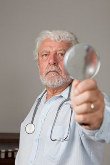 Free Mature Male Doctor Stock Image - 16890521