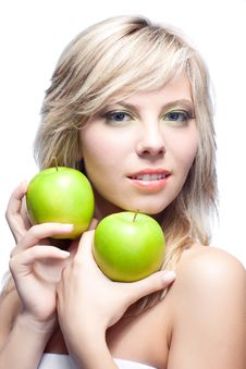 Free Young Girl With  Apples Stock Photo - 16890540
