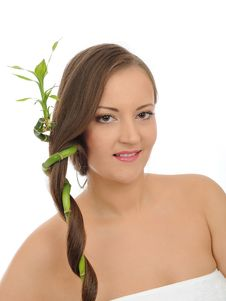 Free Beautiful Happy Spa Woman With Long Healthy Hair Stock Photo - 16890770