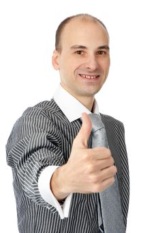 Free Business Man Going Thumbs Up Stock Photos - 16890893