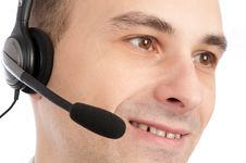 Free A Friendly Telephone Operator Royalty Free Stock Images - 16890899