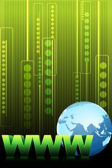 Www Text With Globe Stock Image