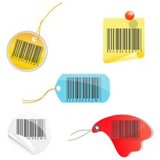 Free Tags Of Barcodes Royalty Free Stock Photos - 16890988