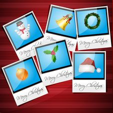 Free Merry Christmas Card Royalty Free Stock Images - 16890999