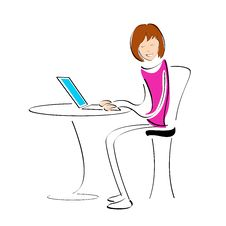 Free Student Working On Laptop Royalty Free Stock Images - 16891009