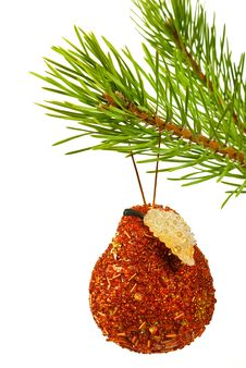 Free Christmas Toy On A Branch Of A Fur-tree Stock Image - 16891031