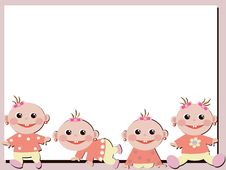 Free Frame With Babies. Stock Photos - 16892023