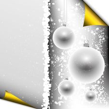 Free Christmas Background With Baubles Royalty Free Stock Images - 16892319
