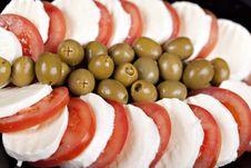 Free Mozzarella, Tomatoes And Olives Stock Image - 16892741