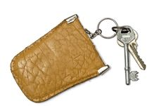 Free Keys And  Leather Tag Stock Image - 16892821