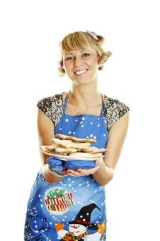 Free Woman Prepared Cookies For Xmas Stock Images - 16893094