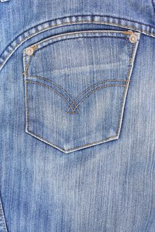 Free Blue Jeans. Stock Photo - 16893190