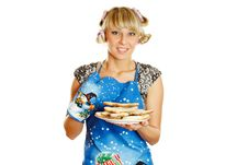 Free Woman Prepared Cookies For Xmas Stock Image - 16893261