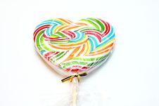Free Colourful Lollipop, Heart Shape. Royalty Free Stock Photos - 16893308