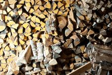 Free Stack Of Wood. Stock Photos - 16893863