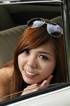 Free Girl In A Car Stock Photos - 16894433