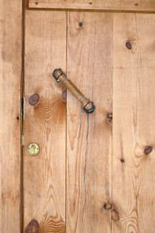 Closed Wooden Barn Door