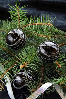 Christmas Tree With Christmas Decorations Stock Image