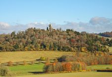 An English Rural Landscape In Autumn Royalty Free Stock Image