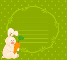 Bunny With Carrot Stock Photography