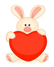 Free Bunny With Heart Stock Photography - 16895242