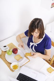Free Breakfast Of Young Woman Stock Images - 16895284