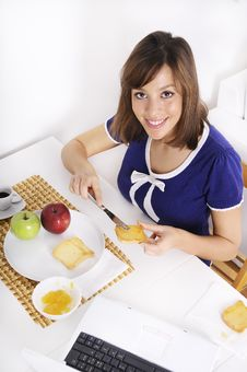 Free Breakfast Of Young Woman Stock Photos - 16895333