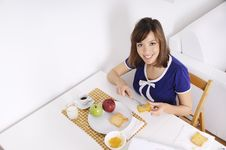 Free Breakfast Of Young Woman Stock Photo - 16895340